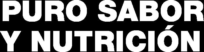 Puro Sabor y Nutrución - Mobile